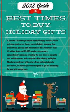 2013 Guide to the Best Times to Buy Holiday Gifts