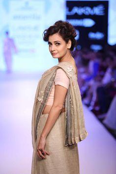 Anavila at Lakme Fashion Week Summer Resort Lakme Fashion Week 2015, Senior 2015, Dia Mirza, Resort 2015, Sari, Indian, Bride, Womens Fashion, How To Wear