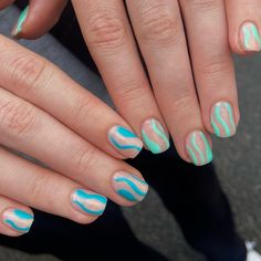 Nail Inspo, Claws, Minimal, Nail Art, Candy, Turquoise, Nails, Jewelry, Finger Nails