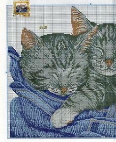 patrones punto de cruz solo felinos