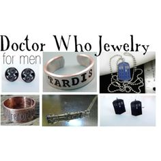 Doctor Who Jewelry for men    Chain jewelry, $8.95Ring, $11Ring, $39Earrings, $8Etsy, $25Doctor Who TARDIS police box cufflinks, $14