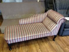 Gorgeous stripey chaise longue upholstered by South West Upholstery: http://swupholstery.co.uk
