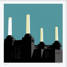 Battersea Power Station, Jayson Lilley, Screenprint, 50x50cm