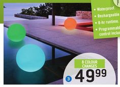 Multicoloured Led Ball In The Rona Flyer