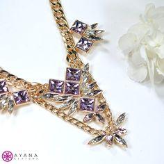 Exotic? Check. Elegant? Check. Glamorous? Check. #AyanaDesigns #fashion #bling #glam #fab #chic