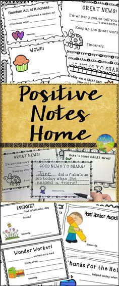 Send Positive Notes Home!