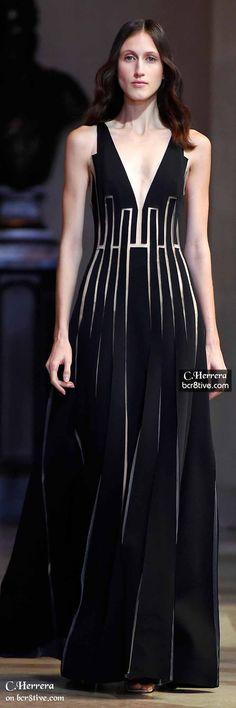 Black Dress - Carolina Herrera Spring 2016 NYFW