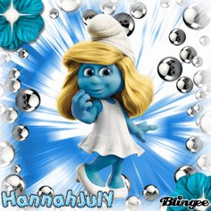 Smurfette Emoji Images, Good Morning Post, Smurfette, Happy Quotes, Cute Wallpapers, Cartoon Characters, Animated Gif, Glass Beads, Cute Animals