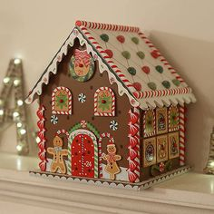 Christmas Gingerbread House Advent Calendar by Little Ella James, the perfect gift for Explore more unique gifts in our curated marketplace. Cardboard Gingerbread House, Gingerbread Crafts, Christmas Gingerbread House, Gingerbread Man, Christmas Home, Christmas Tables, Childrens Christmas, Nordic Christmas, Modern Christmas