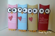 too cute.. owl candy bar wrappers for valentine's day or any holiday  LOVE THEM