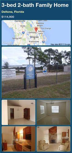 3-bed 2-bath Family Home in Deltona, Florida ►$114,900 #PropertyForSale #RealEstate #Florida http://florida-magic.com/properties/82958-family-home-for-sale-in-deltona-florida-with-3-bedroom-2-bathroom