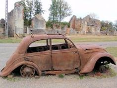 Oradour-sur-Glane in Limousin, S W France - The tradgedy of the martyr town