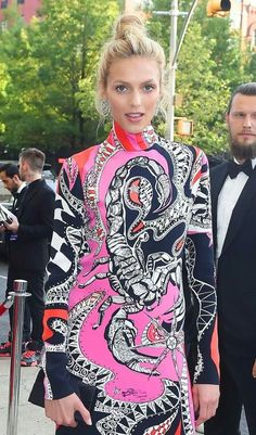 Anja Rubik Wears the Daytime Look for a Night Out
