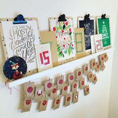 Ready for christmas ! Déco et calendrier de l'avent installés à l'agence ho ho ho  #christmas #adventcalendar #diy #calendrierdelavent #viedagence
