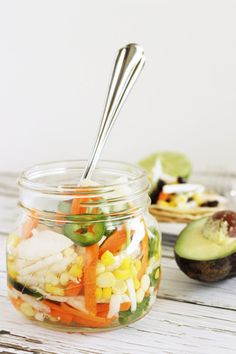 Kick your Taco Tuesday up a notch with some of this Pickled Taco Salad. Quick and crunchy refrigerator pickled veggies that are the perfect topping for tacos @Craving Something Healthy