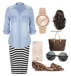 Casual outfit by mayventu1999 on Polyvore featuring polyvore, fashion, style, maurices, Alexander Wang, Madewell, Louis Vuitton, Michael Kors, Tory Burch and clothing