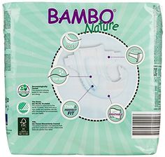 Bambo Nature Premium Baby Diapers Maxi Size 4 30 Count (Pack of 6)