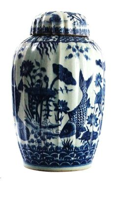 """Blue and White Porcelain"" By InStyle-Decor.com Hollywood, for more beautiful…"