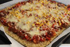 Pizzabunn av havregryn og sesamfrø