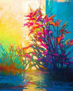 Mark Gould, Verdure, Verdure: Arcadian acrylic, 30 x - Southwest Art Magazine Beautiful Landscape Paintings, Landscape Artwork, Abstract Landscape, Abstract Nature, Abstract Art, Western Landscape, Cool Art, Awesome Art, Southwest Art