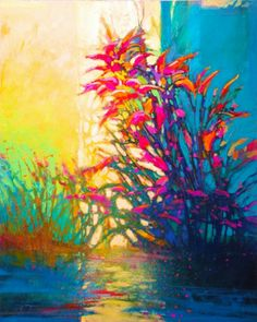 Mark Gould, Verdure, Verdure: Arcadian acrylic, 30 x - Southwest Art Magazine Beautiful Landscape Paintings, Landscape Artwork, Abstract Landscape, Abstract Nature, Abstract Art, Cool Art, Awesome Art, Southwest Art, Magazine Art