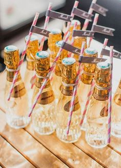 These mini champagne bottles are the definition of adorable | Mademoiselle Fiona