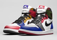 This is a first image of what could possibly be the Air Jordan 1 What The that is rumored to be releasing later this year.