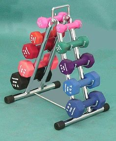 dumbell rack for the home gym Dumbbell Rack, Home Gym Equipment, No Equipment Workout, Home Gym Machine, Mini Gym, Studio Pilates, Weight Rack, Diy Home Gym, At Home Workouts