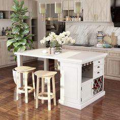 Kitchen Island Decor, Modern Kitchen Island, Kitchen Island With Seating, Stylish Kitchen, New Kitchen, Kitchen Ideas, Kitchen Small, Kitchen Islands For Sale, Kitchen Island Storage
