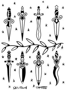 Dagger tattoo ideas - Top 500 Best Tattoo Ideas And Designs For Men and Women Flash Art Tattoos, Pin Up Tattoos, Finger Tattoos, Leg Tattoos, Small Tattoos, Tattoos For Guys, Sleeve Tattoos, Poke Tattoo, Sternum Tattoo