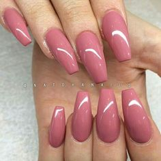 Simplicity is beauty, they said. This pinky pink… Pinky pink Glossy Coffin Nails. Simplicity is beauty, they said. This pinky pink glossy coffin nails is the best example of this saying. Cute Acrylic Nails, Cute Nails, Pretty Nails, My Nails, Coral Nails, Acrylic Nails For Summer Coffin, Dusty Pink Nails, Dark Pink Nails, Pink Acrylics