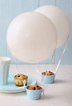 boy baby shower cupcake ideas hot air balloon