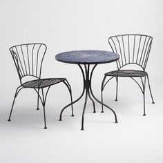One of my favorite discoveries at WorldMarket.com: Peacoat Blue Cadiz Outdoor Bistro Collection