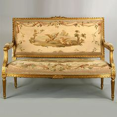 French Louis XVI Style Settee - traditional - love seats - other metro - Denise Grayson