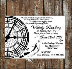 20 Peter Pan Baby Shower Invitations by SugarBritchesBakery, $20.00