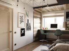 Návrh mladistvé ložnice 13 m2 - foto 3