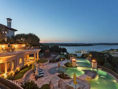 This impressive waterfront estate sits on 3.7 acres in the gated community of Costa Bella and is easily one of the most luxurious homes Austin has to offer.  Bed | 9 Bath | 11 | Partial 1 Est. Sq .Ft. | 3,234  Details here: http://ow.ly/102voU