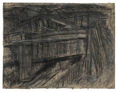 Leon Kossoff Railway Bridge Mornington Crescent, 1952 charcoal and pastel on paper 21 3/4 x 28 3/4 in. (55.2 x 73 cm)