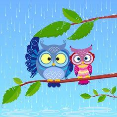 buhos en la lluvia