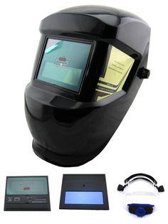 [Visit to Buy] Dry Battery supply Auto darkening welder helmet/face mask/Electric welding mask/cap for the welding tools/machine #Advertisement
