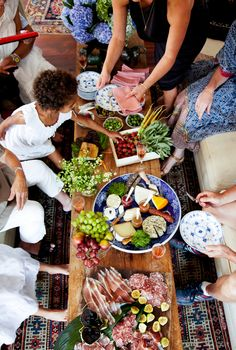 feasting with friends  |  good looking food