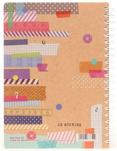 beige Washi Tape scrapbook ring binder notebook from Japan 2