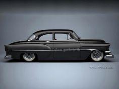 A Garagem Digital de Dan Palatnik | The Digital Garage Project: 1954 Chevrolet 210 Mild Custom