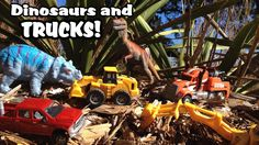 Dinosaurs and Toy CONSTRUCTION TRUCKS For Children