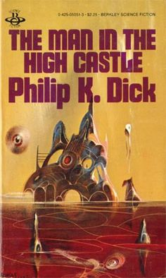 The Man in the High Castle - Philip K. Dick  I read the edition with the other cover (Nazi/Japanese flags superimposed on map of America) but this one is cooler. I assume this one is by Powers.