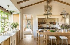 Patina Farm Kitchen. Family Home by Giannetti Home in Ojai, CA
