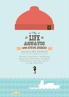 The Life Aquatic with Steve Zissou (2004) ~ Minimal Movie poster by Mads Svanegaard #amusementphile