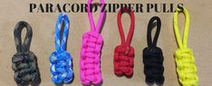 A paracord zipper pull is a wonderful project because it uses up the scrap paracord you might have left over from a bigger project. Paracord Zipper Pull, Zipper Repair, Knot Braid, Girl Scouts, Cub Scouts, Zip Puller, Zipper Pulls, Wild Wolf, Knots