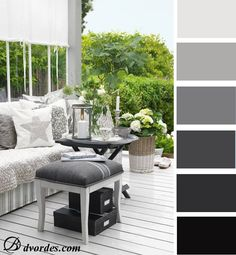 Gray color combined with any other color, but also in interior design can be well combined and different shades of gray between them.