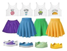 Designer Clothes, Shoes & Bags for Women Cute Disney Outfits, Cute Lazy Outfits, Cool Outfits, Girls Fashion Clothes, Teen Fashion Outfits, Outfits For Teens, Best Friend Matching Shirts, Best Friend Outfits, Pantalon Cargo